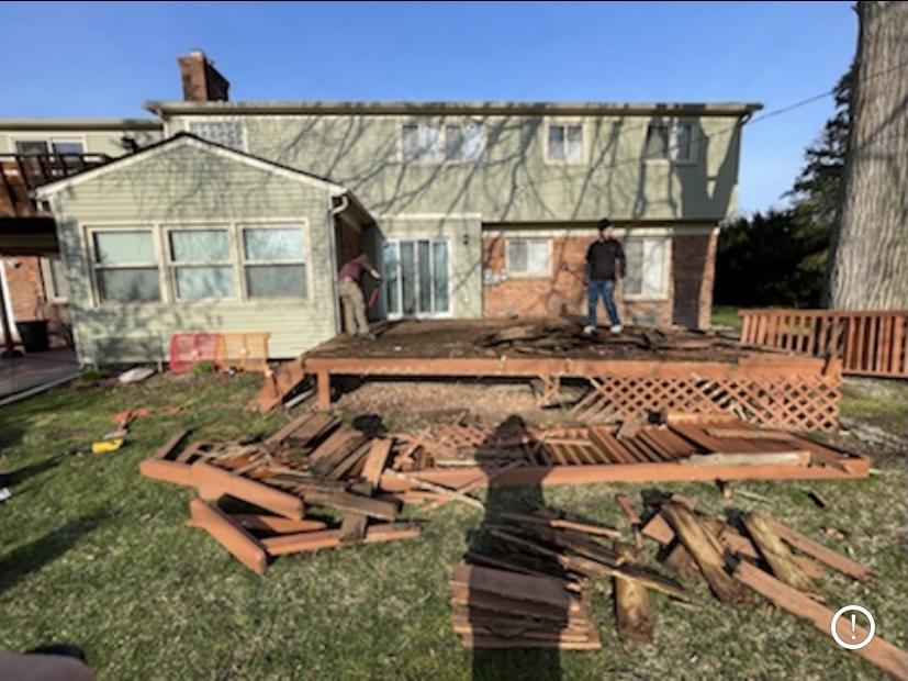 Demolition of Deck for Paver Patio