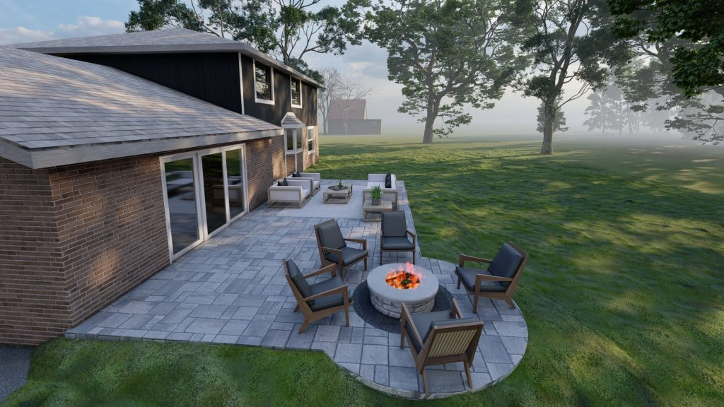 Northville Outdoor Living Space with Paver Patio