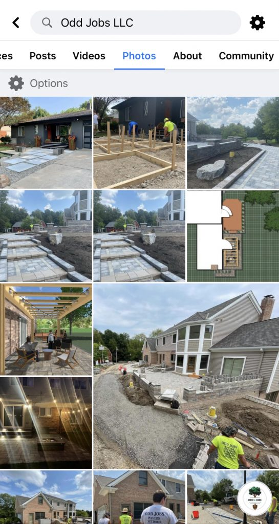 Facebook Page for Odd Jobs LLC in West Bloomfield